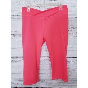 Fabletics Neon Pink Capri Yoga Pants